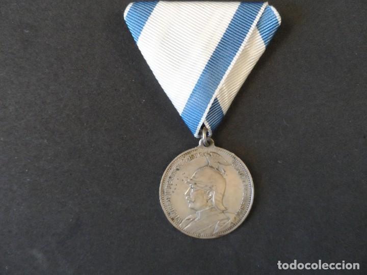 Militaria: MEDALLA WILHEIM II DEUTSCHER KAISER EN MEMORIA DE MI SERVICIO CON EL EMPERADOR 1910.PLATA. II REICH - Foto 2 - 264414344
