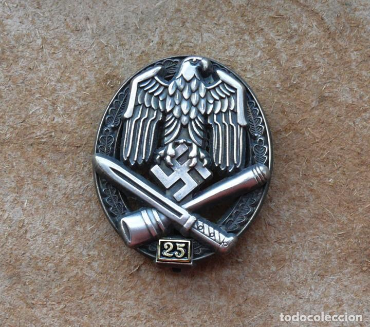Militaria: Insignia de asalto general - 25 asaltos. Tercer Reich. - Foto 4 - 264425099