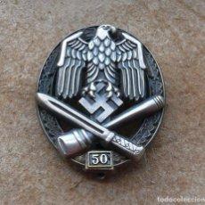 Militaria: INSIGNIA DE ASALTO GENERAL - 50 ASALTOS. TERCER REICH.. Lote 264425389