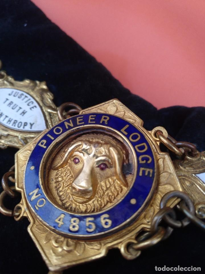 Militaria: Collar ceremonial masónico rito escocés - Foto 3 - 264524214