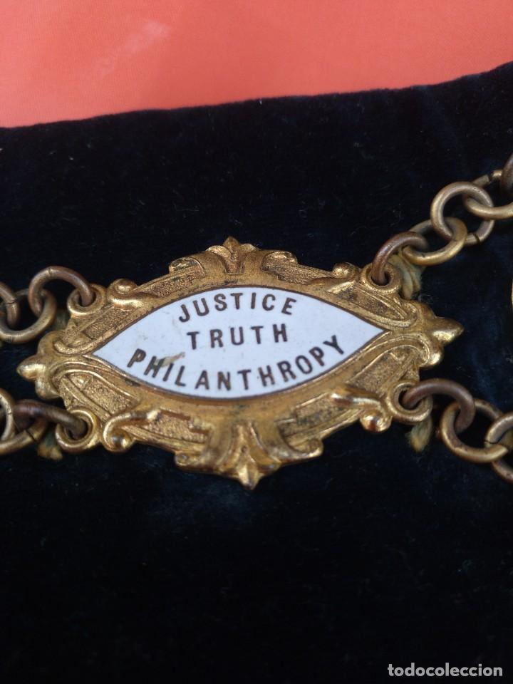Militaria: Collar ceremonial masónico rito escocés - Foto 4 - 264524214