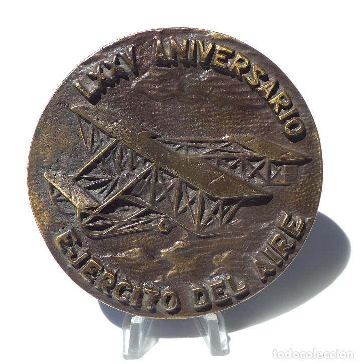 LXXV ANIVERSARIO DEL EJÉRCITO DEL AIRE. 1913-1988. 10 CM DE DIÁMETRO. (Militar - Medallas Españolas Originales )