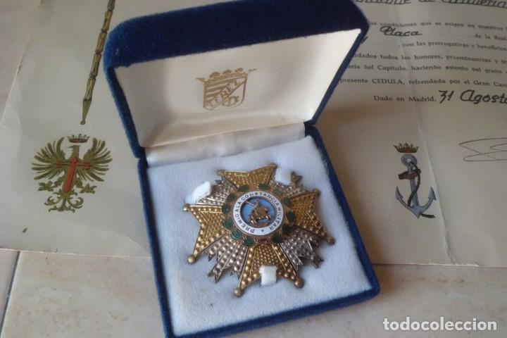 GRAN PLACA SAN HERMENEGILDO Y SU CONCESION, GRAL FRANCO. (Militar - Medallas Españolas Originales )
