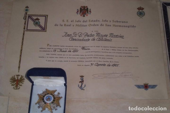 Militaria: GRAN PLACA SAN HERMENEGILDO Y SU CONCESION, GRAL FRANCO. - Foto 5 - 265565729