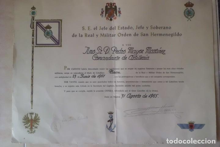 Militaria: GRAN PLACA SAN HERMENEGILDO Y SU CONCESION, GRAL FRANCO. - Foto 6 - 265565729