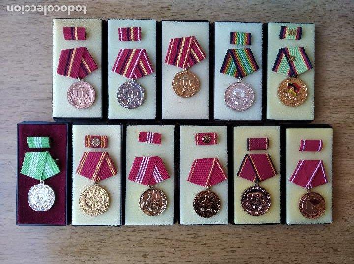 MEDALLAS DDR (1949-1990) , COLECCIÓN DE 11 MEDALLAS ORIGINALES EN MUY BUEN ESTADO. (Militar - Medallas Internacionales Originales)