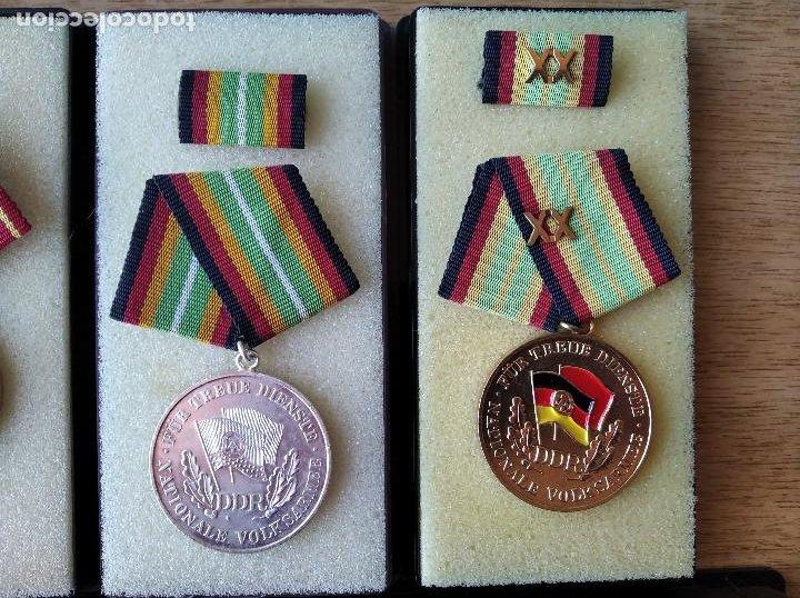 Militaria: Medallas DDR (1949-1990) , colección de 11 medallas originales en muy buen estado. - Foto 3 - 266121483