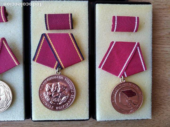 Militaria: Medallas DDR (1949-1990) , colección de 11 medallas originales en muy buen estado. - Foto 4 - 266121483