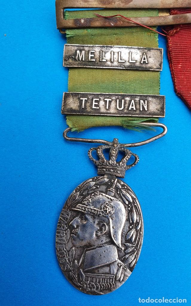 Militaria: Pasador Con Medallas Militares Originales + Pasador de diario con 6 condecoraciones - Foto 5 - 267059949