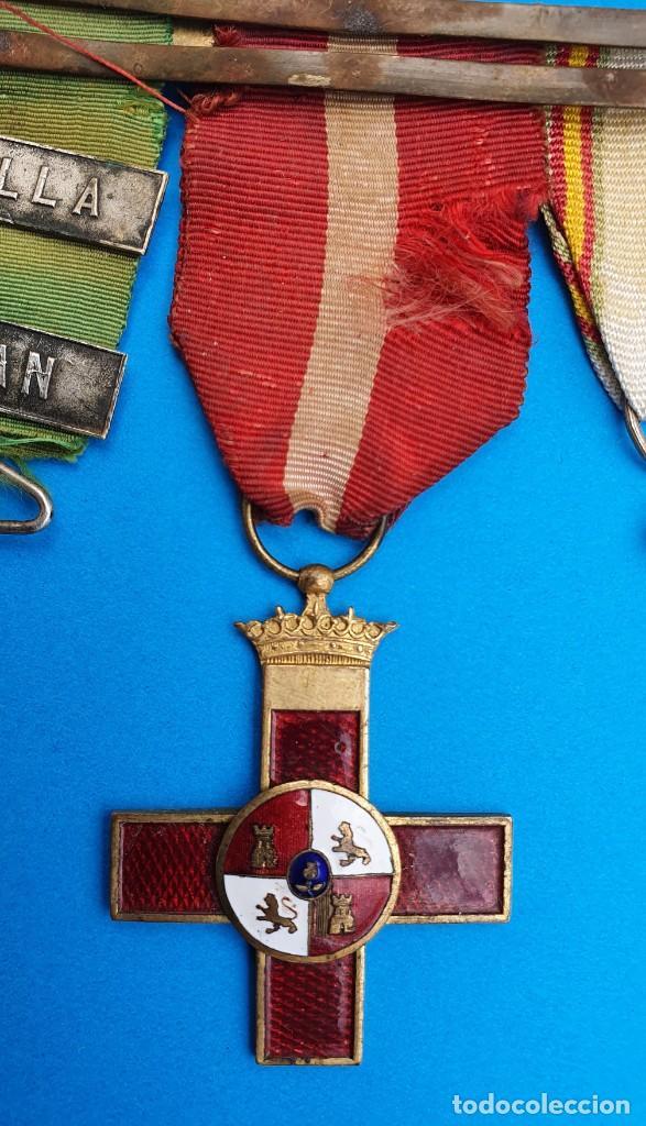 Militaria: Pasador Con Medallas Militares Originales + Pasador de diario con 6 condecoraciones - Foto 6 - 267059949