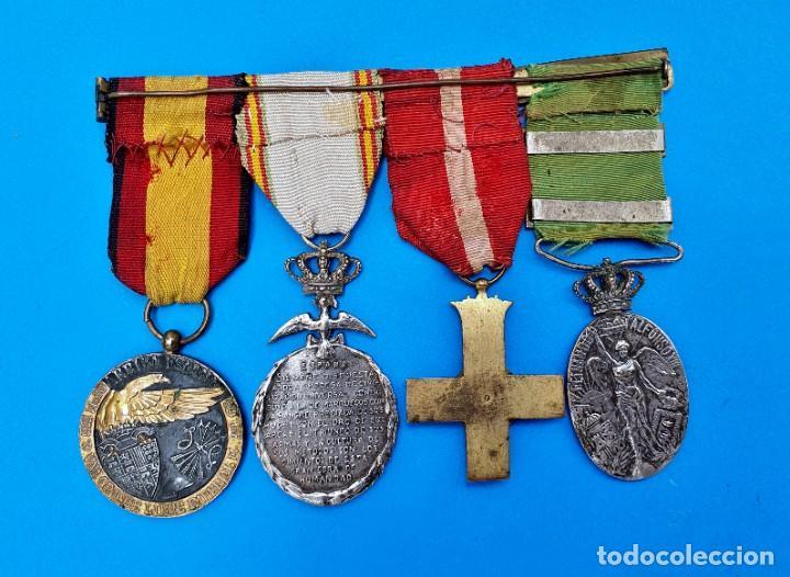 Militaria: Pasador Con Medallas Militares Originales + Pasador de diario con 6 condecoraciones - Foto 8 - 267059949