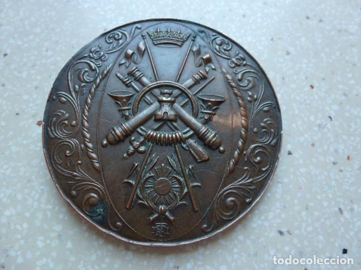 Militaria: MEDALLA CAMPEONATOS MILITARES NACIONALES DEPORTIVOS GIMNASIA EDUCATIVA 1944 - 7 cm. 120 gramos. - Foto 3 - 267636589