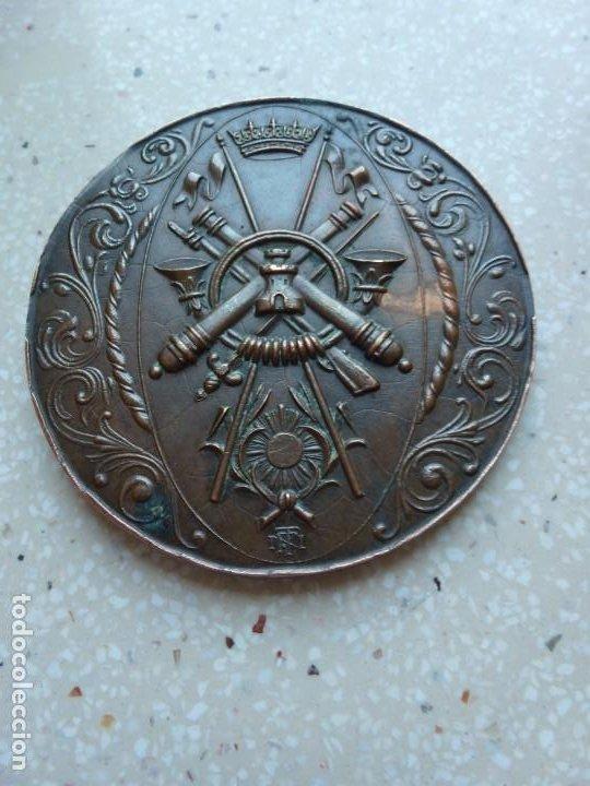 Militaria: MEDALLA CAMPEONATOS MILITARES NACIONALES DEPORTIVOS GIMNASIA EDUCATIVA 1944 - 7 cm. 120 gramos. - Foto 8 - 267636589