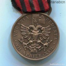 Militaria: ITALIA. MEDALLA DE LA CAMPAÑA DE ALBANIA. MEDAGLIA COMMEMORATIVA DELLA SPEDIZIONE IN ALBANIA. 2º MOD. Lote 267770134