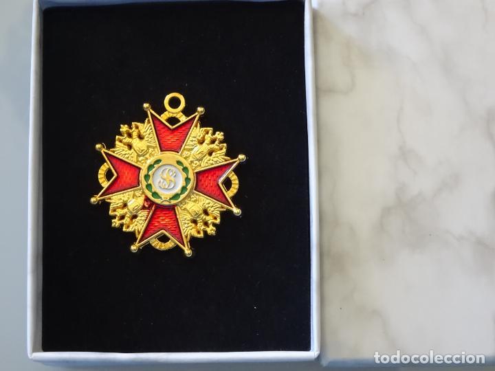 MEDALLA MILITAR. REPRODUCCIÓN. POLONIA - LITUANIA. ORDEN CABALLERÍA DE SAN ESTANISLAO. CON CAJA (Militar - Reproducciones y Réplicas de Medallas )