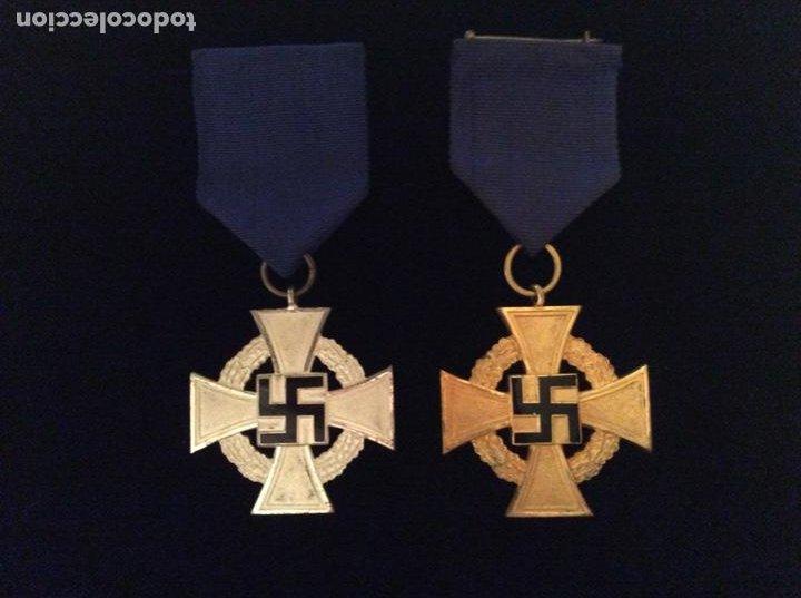 MEDALLAS DE 25 Y 40 AÑOS DE LEAL SERVICIO. ALEMANIA. III REICH. (Militar - Medallas Internacionales Originales)