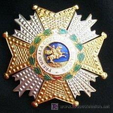 Militaria: PLACA DE LA ORDEN DE SAN HEMENEGILDO. 1950S-60S. METAL DORADO.. Lote 268971134