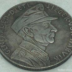 Militaria: RÉPLICA MEDALLA GENERAL EDUARD DIETL. BATALLA DE NARVIK. 10-6-1940. II GUERRA MUNDIAL, ALEMANIA. Lote 269440978
