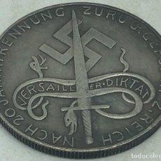 Militaria: RÉPLICA MEDALLA XX ANIVERSARIO DICTADO DE VERSALLES. MALMEDY, EUPEN, BÉLGICA. 18-5-1940. II GUERRA M. Lote 269441108