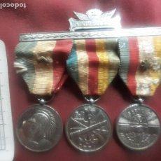 Militaria: CUBA. 3 MEDALLAS ANTIGUAS EN PASADOR. BATISTA. A LOS POLICÍAS PARTICIPANTES EN EL GOLPE DE ESTADO. Lote 269478603