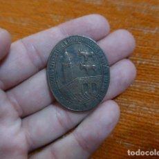 Militaria: ANTIGUA MEDALLA DE BILBAO RARA VERSION CON BURROS, ORIGINAL, 1874, GUERRA CARLISTA, DEFENSORES.. Lote 269493608