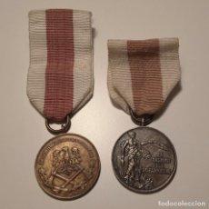 Militaria: MEDALLAS BOMBEROS POLONIA MILITARIA 2 PIEZAS. Lote 269495678