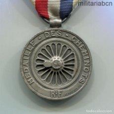 Militaria: FRANCIA. MEDALLA DES CHEMINOTS O DE HONOR DE LOS FERROVIARIOS. VERSIÓN PLATA. CONCEDIDA EN 1943. Lote 270559288