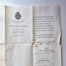 Militaria: CONCESIÓN MEDALLA POR FORMAR PARTE DEL EJERCITO DE PELEA EN AFRICA 1909. Lote 271786463