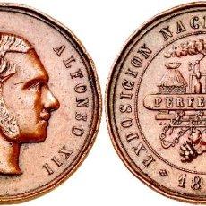 Militaria: MEDALLA ALFONSO XII 1877 EXPOSICION NACIONAL VINICOLA. Lote 274228703