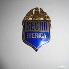Militaria: PLACA ESMALTADA SEGUR IBERICA. Lote 274638818