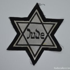 Militaria: WWII JEWISH STAR JUDE WITH GHETTO, CONCENTRATION CAMP. Lote 274704943