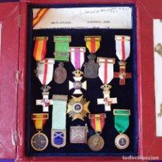 Militaria: ESTUCHE CON MEDALLAS Y CONDECORACIONES. GUERRA DE AFRICA Y GUERRA CIVIL DE COMANDANTE DE ARTILLERIA.. Lote 275719293