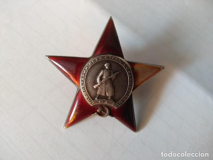 RUSIA -CONDECORACION-ORDEN ESTRELLA ROJA-URSS- CON ESMALTES-OTORGADA. MUY DIFICIL. (Militar - Medallas Internacionales Originales)
