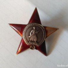 Militaria: RUSIA -CONDECORACION-ORDEN ESTRELLA ROJA-URSS- CON ESMALTES-OTORGADA. MUY DIFICIL.. Lote 275785353