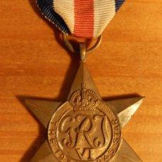 Militaria: REINO UNIDO. ESTRELLA 1939-1945. CON CINTA PARA FRANCIA Y ALEMANIA.. Lote 275902618