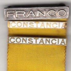 Militaria: MEDALLA: DAMAS AUXILIARES SANIDAD MILITAR / PASADOR - FRANCO + CONSTANCIA (2). Lote 275988923