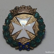 Militaria: MEDALLA: INSIGNIA DE SANIDAD, CRUZ PLATEADA CON LAUREA ESMALTADA, ÉPOCA ALFONSO XIII. Lote 275989318