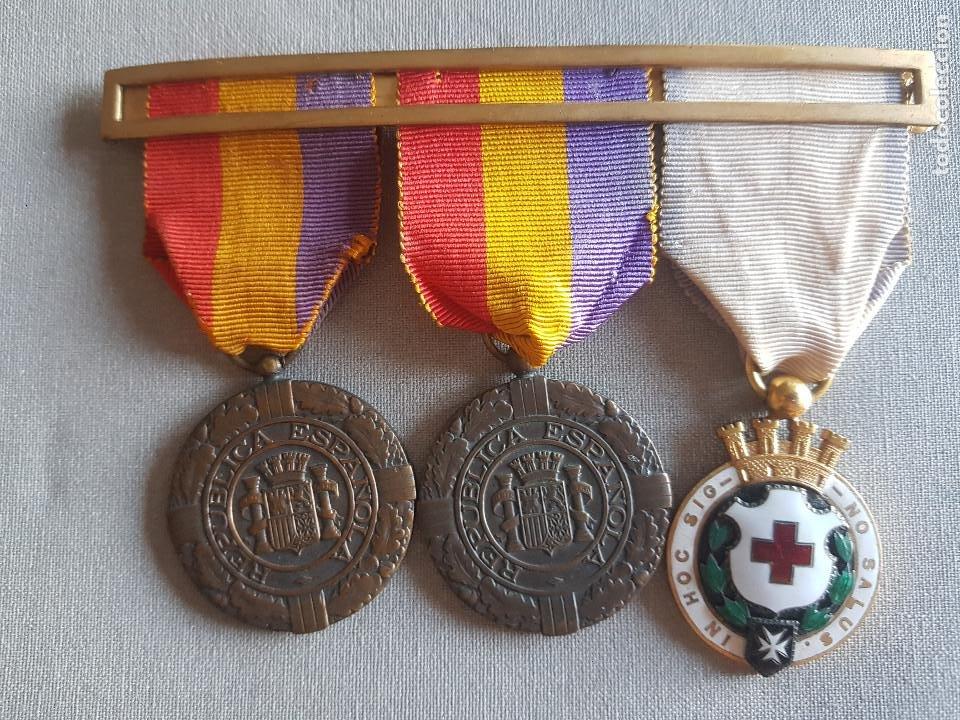 ANTIGUO PASADOR REPUBLICANO PATRIA LIBERTAD REPUBLICA (Militar - Medallas Españolas Originales )