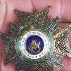 Militaria: PLACA GRAN CRUZ PREMIO CONSTANCIA MILITAR ORDEN SAN HERMENEGILDO PLATA DORADA FRANCO. Lote 276238413