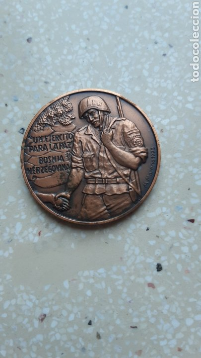 MEDALLA EJÉRCITO ESPAÑOL CASCOS AZULES - MOSTAR -BOSNIA - (Militar - Medallas Españolas Originales )