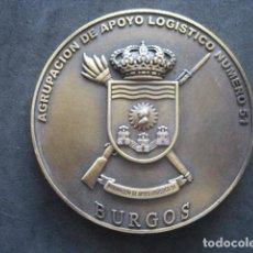 Militaria: MEDALLA BRONCE. AGRUPACION DE APOYO LOGISTICO Nº51 BURGOS 1987 - 2009. Lote 277536463
