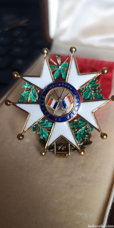 Militaria: Cruz de oficial de la Orden de la Legión de Honor plata bañada en oro - Foto 3 - 277761163
