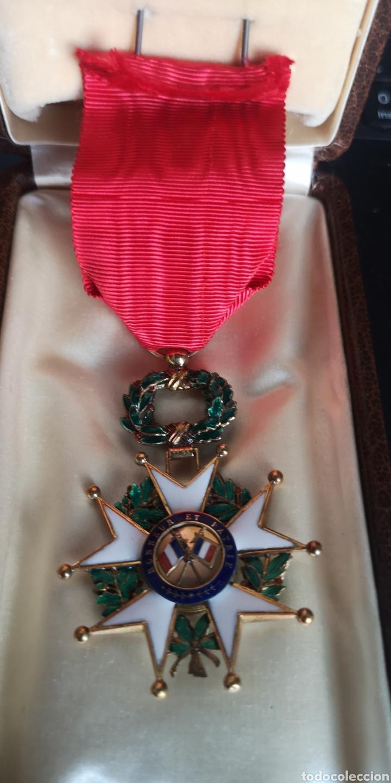 Militaria: Cruz de oficial de la Orden de la Legión de Honor plata bañada en oro - Foto 4 - 277761163