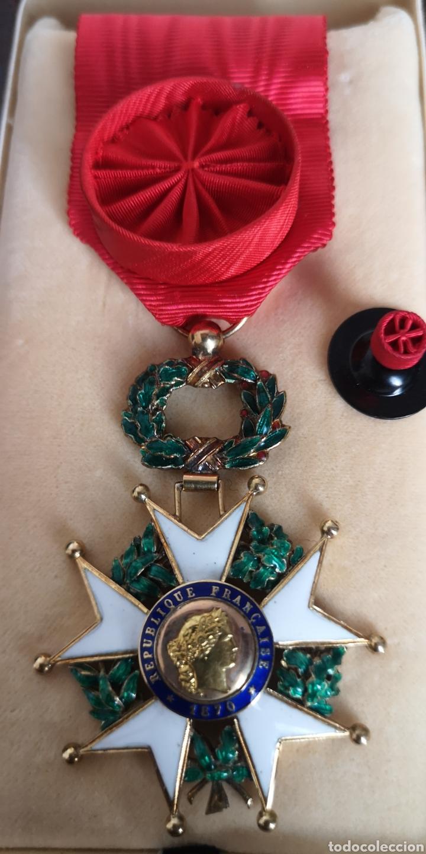 Militaria: Cruz de oficial de la Orden de la Legión de Honor plata bañada en oro - Foto 7 - 277761163