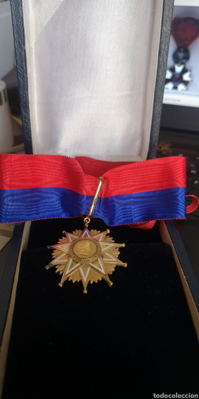 Militaria: Encomienda de la Orden de Bernardo OHiggins Chile, plata bañada en oro con su estuche - Foto 2 - 277761658