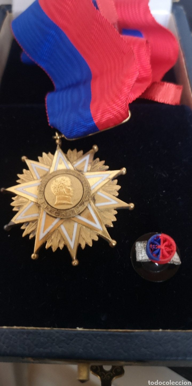 Militaria: Encomienda de la Orden de Bernardo OHiggins Chile, plata bañada en oro con su estuche - Foto 4 - 277761658