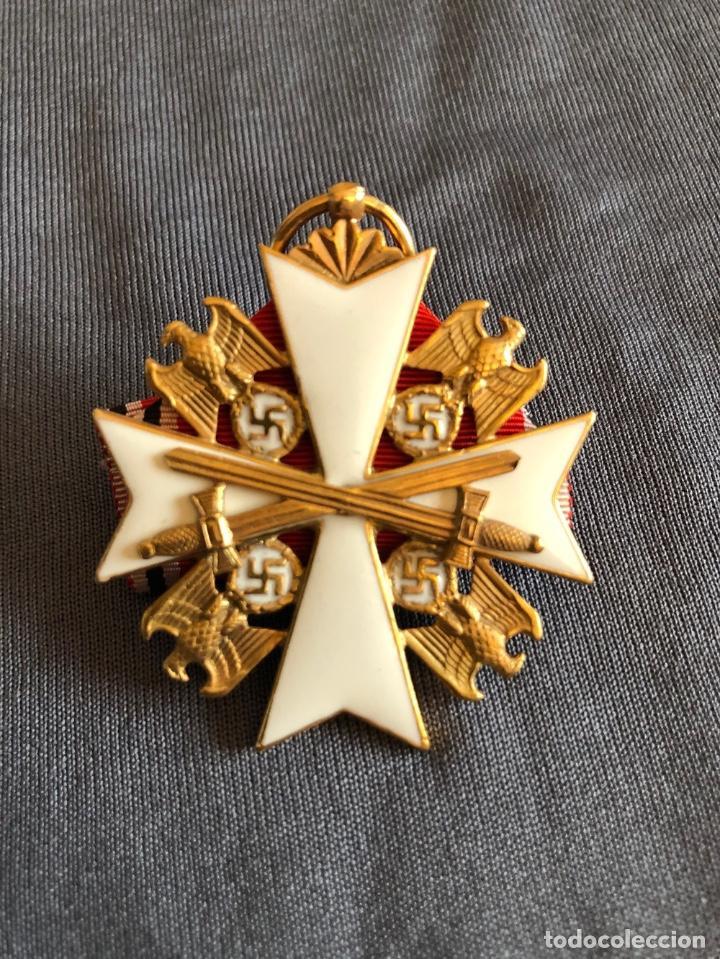 Militaria: ORDEN DEL AGUILA ALEMANA. Verdienstorden vom Deutschen Adler. 2ª Clase. Con espadas. - Foto 6 - 278530643