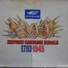Militaria: COLECCION COMPLETA 16 MONEDAS MEDALLAS US ARMY CAMPAÑAS 1793 - 1945. 200GR. 104. Lote 278534718