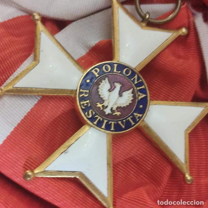 BANDA GRAN CRUZ ORDEN DE POLONIA RESTITUTA (Militar - Medallas Internacionales Originales)