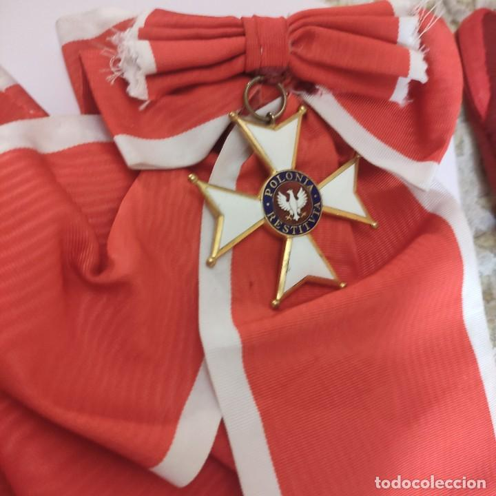 Militaria: Banda gran cruz Orden de Polonia Restituta - Foto 2 - 278845083
